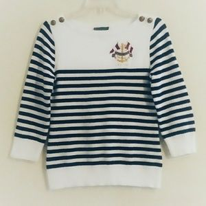 Vintage Ralph Lauren Nautical Stripe Sweater Small